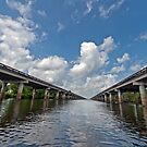 Interstate Ten over the Atchafalaya Basin  by Bonnie T.  Barry