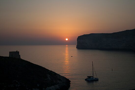 Sunset at Xlendi by Christian  Zammit