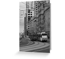 Melbourne Trams Greeting Card