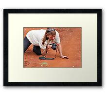 HAVE YOU EVER BEEN CAUGHT IN ACTION.... Like this! Framed Print