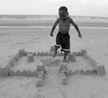Sand Castle Destruction by Trish Nicholas