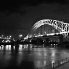 b/w runcorn bridge by shaun-e