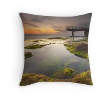 North Beach Jetty II Throw Pillow