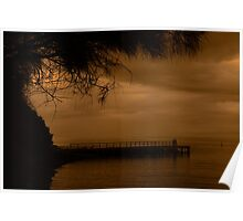 Jetty with a view Poster