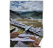 north Wales : Slate & Flowers 2 Poster