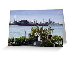 Market on the river Greeting Card