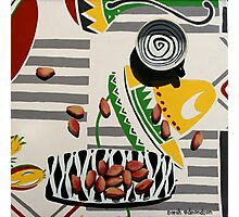 Swirly Cup and Pistachio Nuts Photographic Print