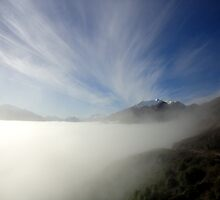 wakatipu invert. queenstown, aotearoa by tim buckley | bodhiimages