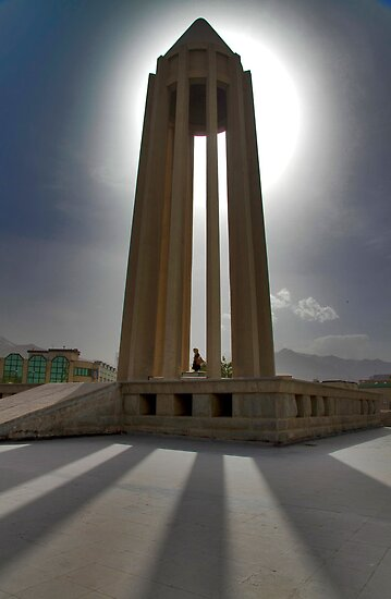 In the Shadow of the Tomb of Avicenna (Ibn Sīnā) - Hamadan - Iran by Bryan Freeman