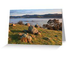 Big rush up Granite hill  Greeting Card