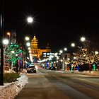 Christmas Light Around Downtown Des Moines by suwandic