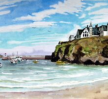 """Chaff Cove # 2"" -  Port Isaac, Cornwall by Timothy Smith"