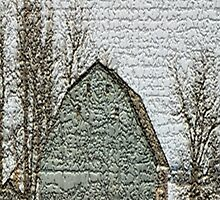 Textured Winter Barn by dbuckman
