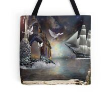 The Grey Havens farewell.. Tote Bag