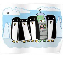 alien penguin Poster