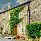 Cottages At Downham Village by Sandra Cockayne