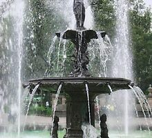 A Beautiful Fountain in the Alameda Mexico DF 1 by Christopher Johnson