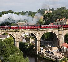"Steam Train 5690 ""Leander"" at Knaresborough by keighley"