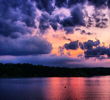 Sunset at The Lake by Rick  Friedle