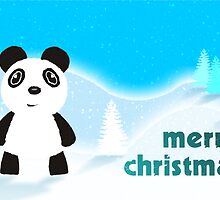 Merry Christmas Panda by Emma Harckham