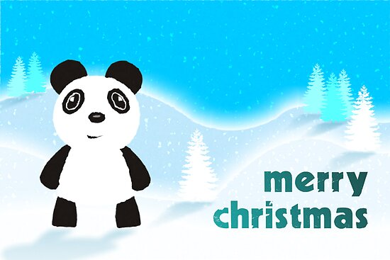 Merry Christmas Panda by puppaluppa