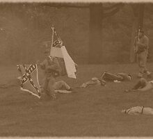 Civil War Reenactment by Karl R. Martin