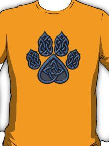 Celtic Knot Pawprint - Blue T-Shirt