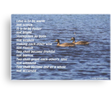 Love is to be Canvas Print