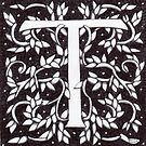 "Art Nouveau ""T"" (William Morris Inspired) by Donnahuntriss"