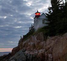 Bass Harbor Head Lighthouse Illuminated by Mark Van Scyoc