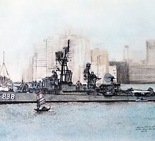 "DDR 838 USS Ernest G Small, ""Liberty Call 1965 Hong Kong by David M Scott"