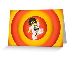 Afro Karate Guy Greeting Card