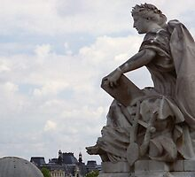 view high above the R Seine from terrace musee d'Orsay by BronReid