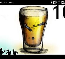 September 10th - The battle for the beer by 365 Notepads -  School of Faces