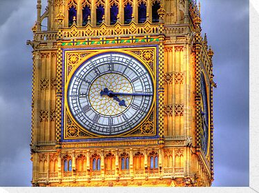 The Face Of Big Ben - HDR by Colin J Williams Photography