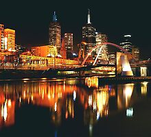 MELBOURNE CITY BY NIGHT by Scott  d'Almeida