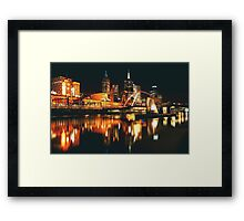 MELBOURNE CITY BY NIGHT Framed Print