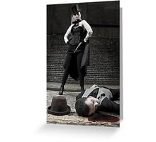 Ripper and Victim Greeting Card