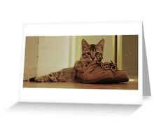 Boris and my Sperry's  Greeting Card
