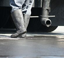 Hot Shoes!  Asphalt worker, La Mirada, CA USA by leih2008