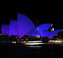 Vivid Opera House  by Michael John