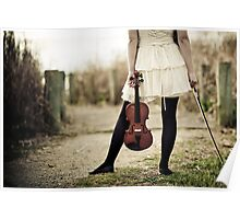 Violinist Standoff Poster