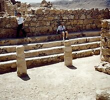 Israel - Masada - the synagogue by Shulie1