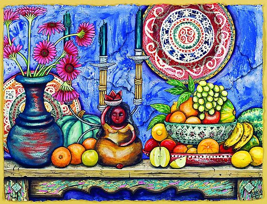 Mexican Fruit Lady by Sarina Tomchin