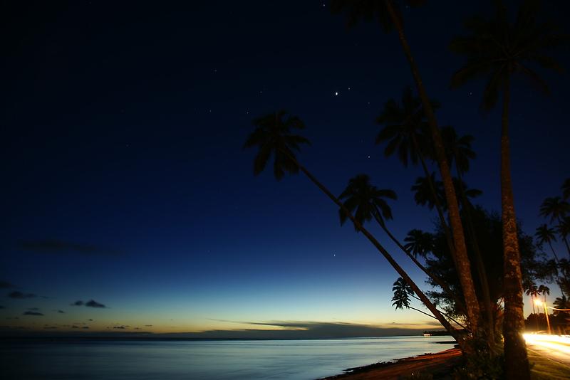 Rarotonga by Night by Adam Jones