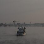 Smoke on the water, Stockholm Harbour by sofiesofie