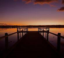 Dawn on the lake by FLYINGSCOTSMAN