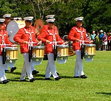 US Marine Drum and Bugle Corps !! by David Davies