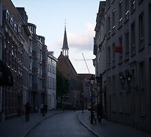 Street in eveninglight Breda by Anita57
