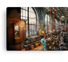 Building Trades - Machinist - Back in the days of yesterday Canvas Print